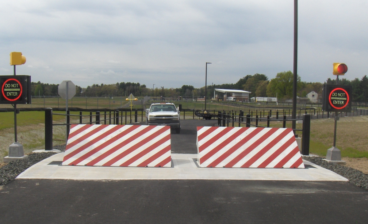 HD300 Wedge Barrier at Bradley Air National Guard | Delta Scientific