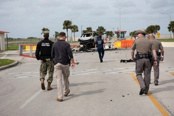 Delta Barrier Stops Intruder at Naval Air Station - Corpus Christi
