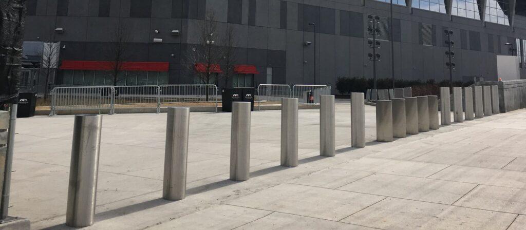 High Security Bollards DSC720 Mercedes Benz Stadium | Delta Scientific